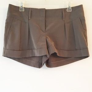 Express Olive Green Shorts